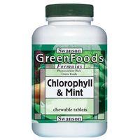 Swanson Chlorofil z miętą 500 tabletek do ssania