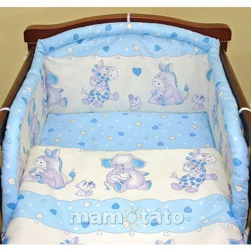 ochraniacz do łóżeczka 70x140 błekitne serduszka - promocja marki Mamo-tato