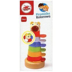 Piramidka kolorowa Playme drewniano-plastikowa