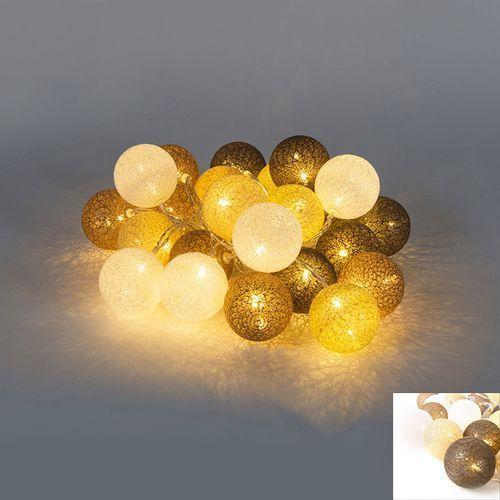 Oswietlenie swiateczne lancuch swietlny Bal 24 LED barwa cieplo biala 4,6 m