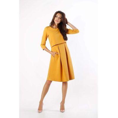 efa1bbfef79104 Suknie i sukienki Rodzaj: rozkloszowana, Długość: midi, Długość ...