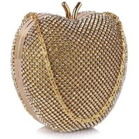 Niezwykła torebka wizytowa w kształcie jabłuszka złota - złoty