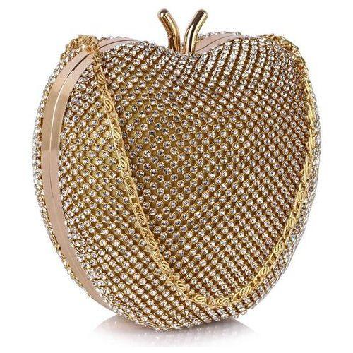 Wielka brytania Niezwykła torebka wizytowa w kształcie jabłuszka złota - złoty