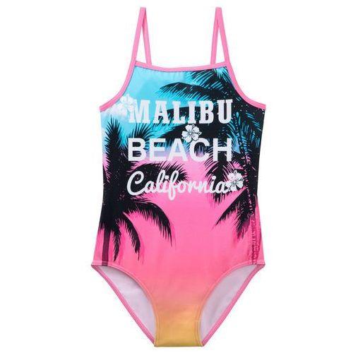 331cb6bc326753 Zobacz w sklepie Bonprix Kostium kąpielowy dziewczęcy różowy flaming z  nadrukiem