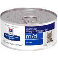 Hills Prescription Diet Feline m/d Diabetes Weight Management - 12 x 156 g| Darmowa Dostawa od 89 zł i Super Promocje od zooplus!