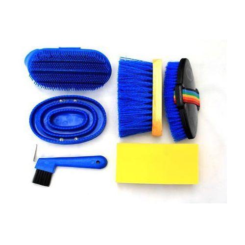 Zestaw do czyszczenia koni 6 elem. 3 kolory marki Lagis