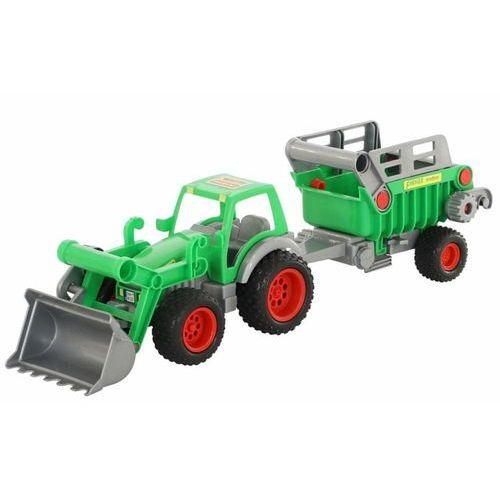 Farmer technik traktor ładowarka z naczepą marki Wader