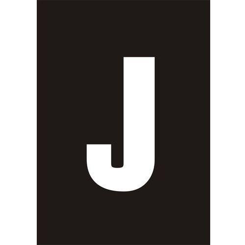 Top design Litera j (biały/czarny)