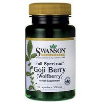 Kapsułki Swanson Full Spectrum Goji (Wolfberry) 500mg 60 kaps.