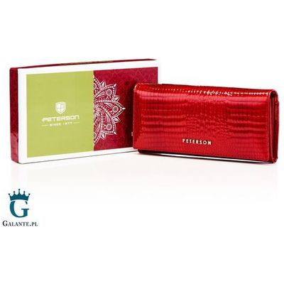 d19d25422bab0 portfele portmonetki portfel snatch vistula red Peterson kolekcja ...