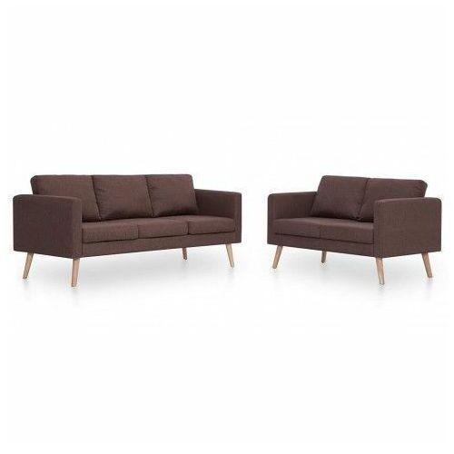 Komplet 2 sof wypoczynkowych Bailey - Brązowy, vidaxl_276852
