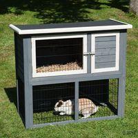 Klatka dla królików Outback Kompakt Grey z wybiegiem - Dł. x gł. x wys.: 104 x 52 x 92 cm (6942453320424)