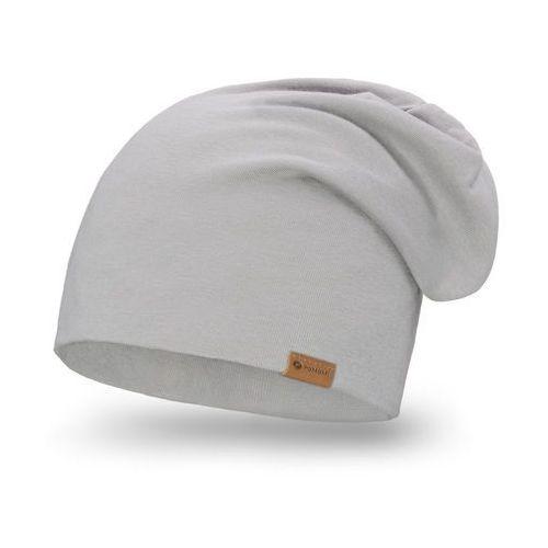 Bawełniana czapka dla kobiet i mężczyzn PaMaMi - Jasnoszary, kolor szary