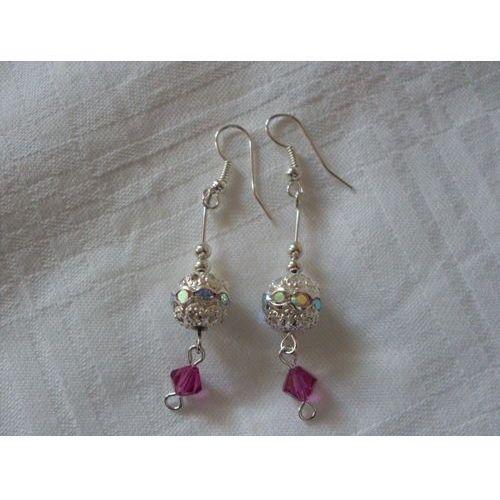 K-00122 Kolczyki z kryształkami Swarovski i cyrkoniami