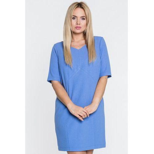 aa8b2b199f0db1 Błękitna sukienka wizytowa (Topsi) - sklep SkladBlawatny.pl