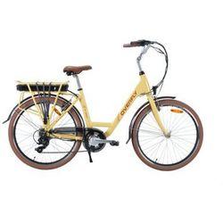 Rower elektryczny grace 10.4ah beżowy marki Overfly