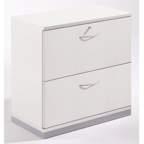 Unbekannt Thea - szafka na kartotekę wiszącą, 2 szuflady, dwutorowe, stara biel. niskoemis