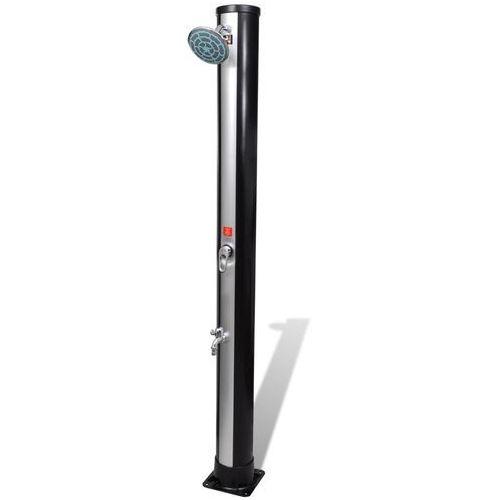 vidaXL Solarny prysznic zewnętrzny z kranem i słuchawką 35 L