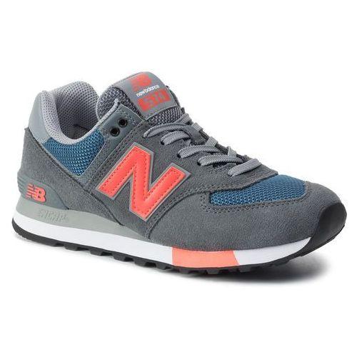 Sneakersy - ml574nfo kolorowy szary, New balance, 40-45