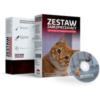Zestaw bez wiercenia siatka dla kota 4x2m. Oczko 40mm.