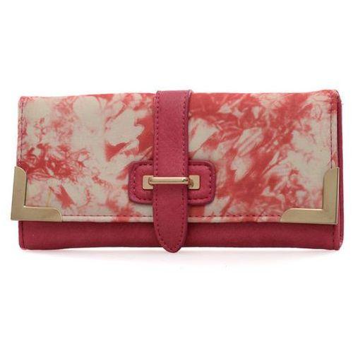 Różowy portfel damski z kolorowym nadrukiem - różowy   kolorowy Wielka brytania