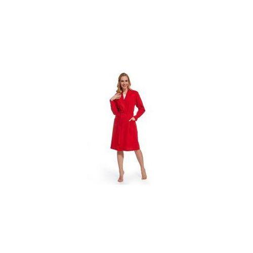 90af84e79ecd97 Zobacz w sklepie Dolce sonno Damski bawełniany szlafrok / podomka czerwony
