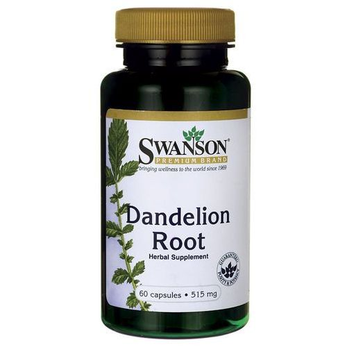 Korzeń mniszka lekarskiego dandelion 515mg mniszek lekarski 60 kapsułek SWANSON (5902729732383)