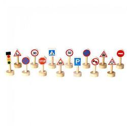 Plan toys Drewniane znaki drogowe i światła, , plto-6203