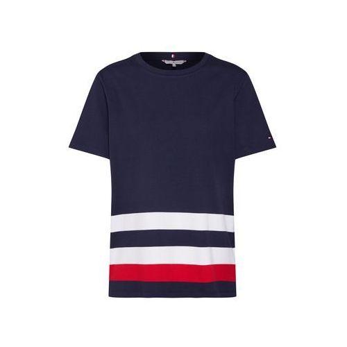 TOMMY HILFIGER Koszulka 'BETTIE TOP SS' ciemny niebieski / czerwony / biały, kolor niebieski