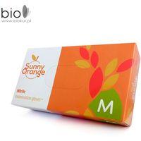 Rękawiczki nitrylowe bezpudrowe Sunny Orange ( M ) Doman – 100 szt