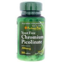 Tabletki Puritan's Pride Chrom (Pikolinian) 200 µg - 100 tabletek