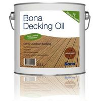 BONA DECKING OIL - Kolor Teak - Powierzchnie na zewnątrz - 2,5 L