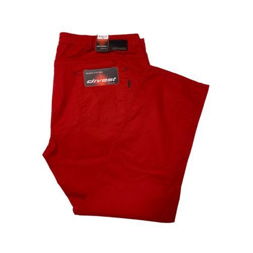 Divest spodnie długie materiałowe czerwone Model 548 120/33 Czerwony Bawełna / Lycra, 54812033
