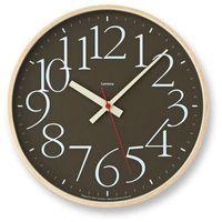 Zegar ścienny AY Clock L brązowy, kolor brązowy