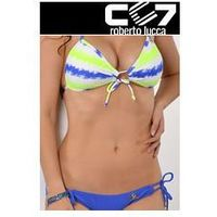 SET Kąpielowki CC7 HEARTS PUSH-UP NEON STRIPES + SUPER BRIEFS ELECTRIC BLUE no. 43