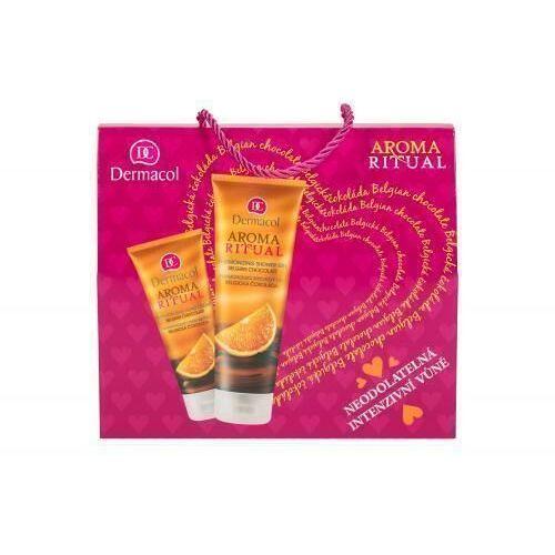 Dermacol aroma ritual belgian chocolate zestaw żel pod prysznic 250 ml + krem do rąk 100 ml dla kobiet - Godna uwagi promocja