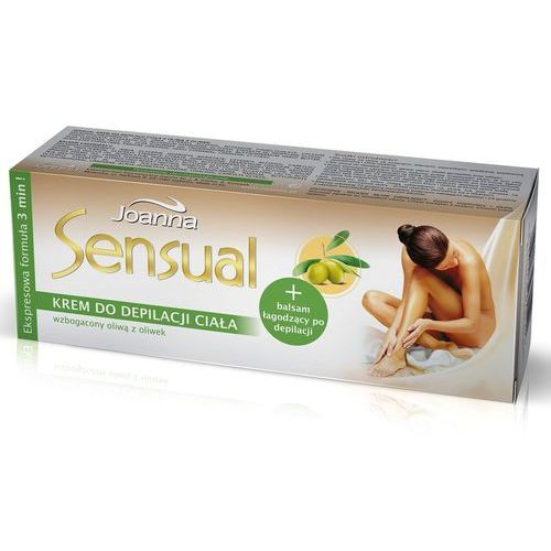 Sensual - krem do depilacji nóg - laboratorium kosmetyczne joanna, joanna od 24,99zł darmowa dostawa kiosk ruchu Joanna - Znakomity upust