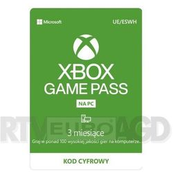 Microsoft Subskrypcja xbox game pass na pc (3 m-ce)