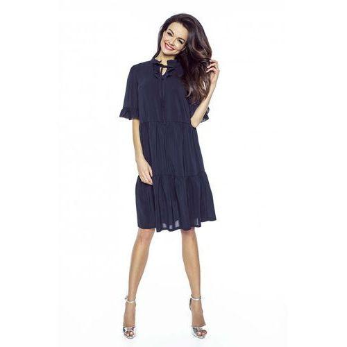 6bfa33c401 Granatowa sukienka w stylu boho