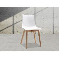 Beliani Krzesło - biało-jasnobrązowy - natural zebra