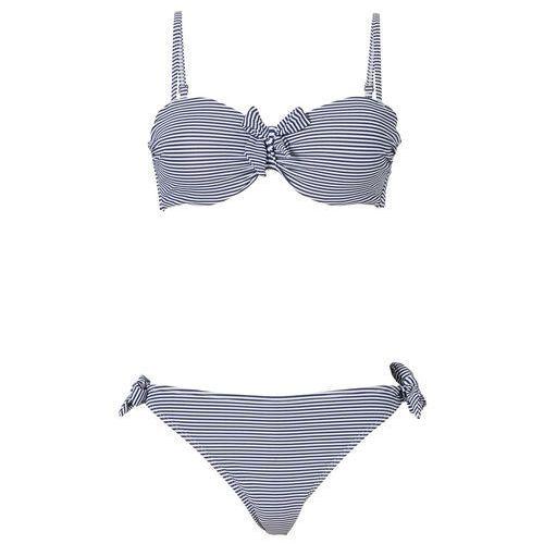 489c9b598124fd Bikini na fiszbinach bonprix ciemnoniebiesko-biały w paski, kolor niebieski  - Galeria Bikini na