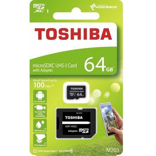 Toshiba Karta pamięci z adapterem microsdxc 64gb class 10 thn-m203k0640ea (4047999410966)