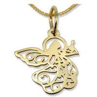 Węc - twój jubiler Wisiorek z żółtego złota aniołek wec-z-wis-aniołek-40