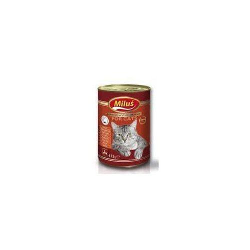 Miluś karma dla kota kawałki o smaku kurczaka w sosie 415g