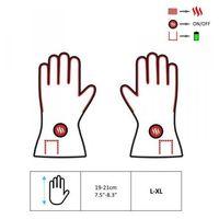 Glovii, gib, ogrzewane rękawiczki skórzane