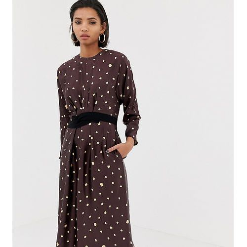 Mango metallic polka dot dress - Black