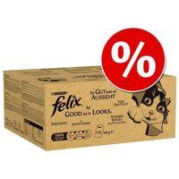 120 x 100 g Pakiet Felix (So gut wie es aussieht) w super cenie! - Wołowina, kurczak, dorsz i tuńczyk w galarecie (7613036572712)