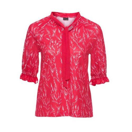 Shirt z koronką bonprix jasnoróżowy, kolor czerwony