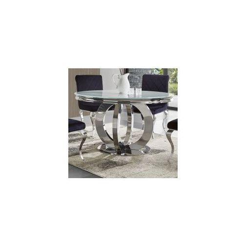 Bellacasa Stół glamour dallas ii okrągły - stal blat szklany (5908273398181)