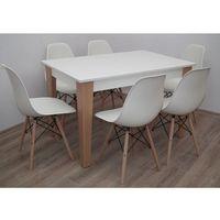 Sandow Śliczny zestaw do kuchni/salonu stół 80x120 do 165 + 6 krzeseł k-87